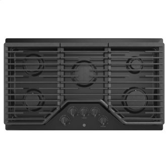 "GE 36"" Built-In Deep-Recessed Edge-to-Edge Gas Cooktop Black - JGP5036DLBB"