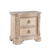Emerald Home Riviera 2 Drawer Nightstand With Marble Top Alabaster B521p-03