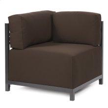 Axis Corner Chair Seascape Chocolate Titanium Frame