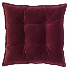 Talia Velvet Pillow, BURGUNDY, 20X20