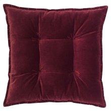 Talia Velvet Pillow, BURGUNDY, 20X20