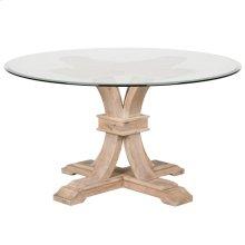 """Devon 54"""" Round Glass Dining Table"""