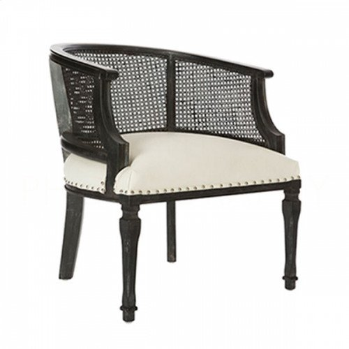 Mary Katherine Black Cane Back Chair