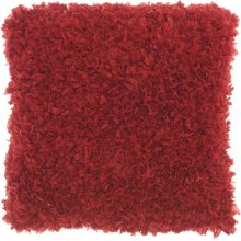 "Shag Dl660 Deep Red 1'5"" X 1'5"" Throw Pillows"