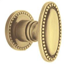 Satin Brass and Brown 5060 Estate Knob