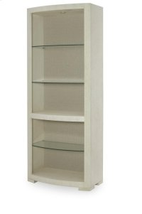 Bunching Curio With Upholstered Back Panel Product Image