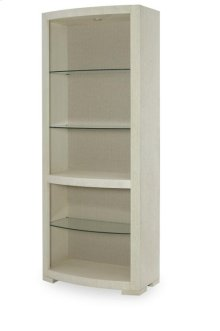Bunching Curio With Upholstered Back Panel