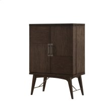 Emerald Home Millenium Bar Cabinet Brown Wood, Metal Legs E218-07