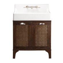 Oak Hill Bathroom Vanity with Sink - Canvas White / Weathered Oak