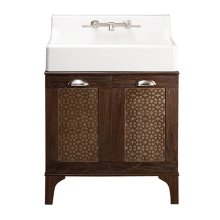 Oak Hill Bathroom Vanity with Sink - Canvas White / Weathered Oak