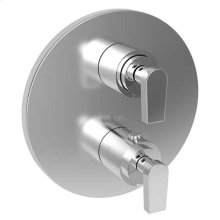 "Forever Brass - PVD 1/2"" Round Thermostatic Trim Plate with Handle"