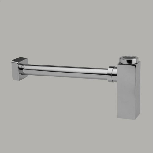Square Lavatory Trap Brushed Nickel