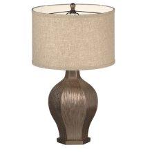 Metallic Textured Lamp. 150W Max.