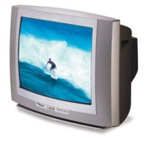 """19"""" FAUX FLAT STEREO COLOR TV"""