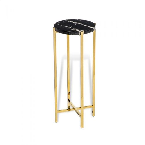 Laurent Round Drink Table - Black