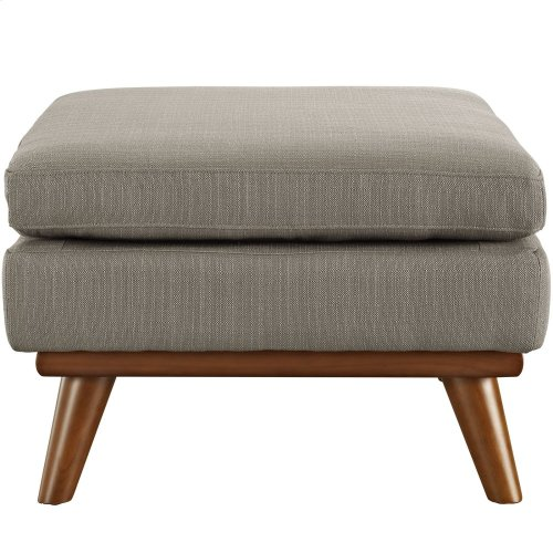Engage Upholstered Fabric Ottoman in Granite