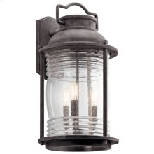 "Ashland Bay 21.5"" 3 Light Wall Light Weathered Zinc"