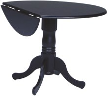 "42"" Complete Drop Leaf Table Black"