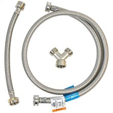 "72"" Braided Stainless Steel Steam Dryer Installation Kit"