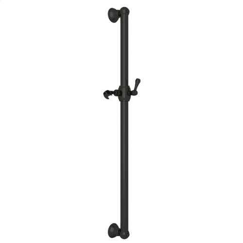 """Old Iron 42"""" Decorative Grab Bar With Lever Handle Slider"""