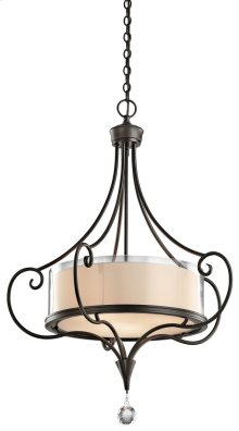 Lara 3 Light Chandelier/ Pendant Shadow Bronze