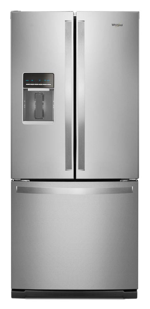 30-inch Wide French Door Refrigerator - 20 cu. ft.  FINGERPRINT RESISTANT STAINLESS STEEL