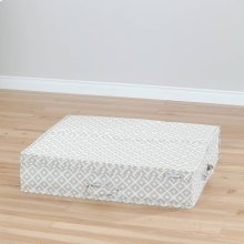 Canvas Underbed Storage Box - Beige, Diamond Print