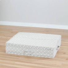 Canvas Underbed Storage Box - Beige, Diamond Print