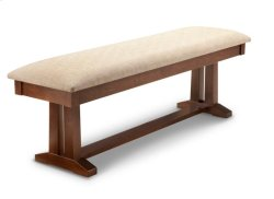 "Brooklyn 60"" Pedestal Bench with Wood Seat"
