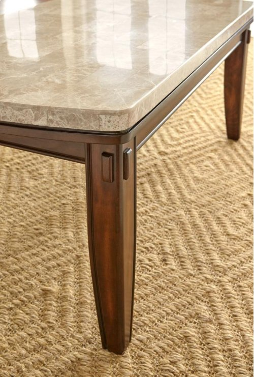 """Eileen White Marble Top Table 42"""" x 72"""" x 31"""""""