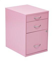 "22"" Pencil, Box, Storage File Cabinet In Pink Finish"