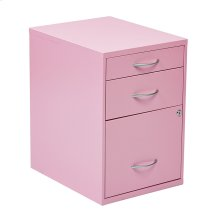 "22"" Pencil, Box, Storage File Cabinet In Pink Finish"
