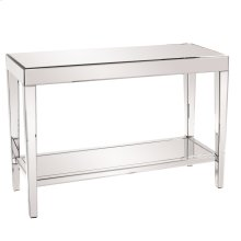 Mirrored Console Table with a Bottom Shelf