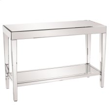 Mirrored Console Table with a Bottom Shelf Product Image