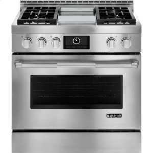 """JENN-AIRPro-Style(R) 36"""" Gas Range with Griddle and MultiMode(R) Convection"""