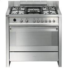 """Free-standing Dual Fuel Dual Cavity """"Opera"""" Range Approx. 36"""" Stainless Steel"""