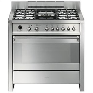 "SmegFree-standing Dual Fuel Dual Cavity ""Opera"" Range Approx. 36"" Stainless Steel"