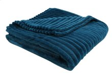 "THROW - 60"" X 50"" / BLUE ULTRA SOFT RIBBED STYLE"