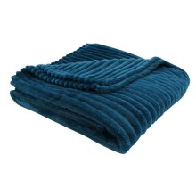 """THROW - 60"""" X 50"""" / BLUE ULTRA SOFT RIBBED STYLE"""