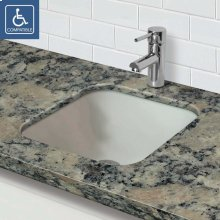 Translucence ® Square Undermount Glass Sink - Frosted Crystal