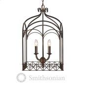 Smithsonian Gateway 4 Light Pendant in Fired Bronze