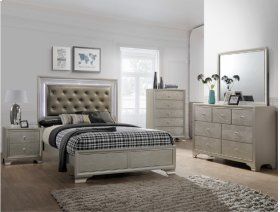 Lyssa King LED Headboard+footboard