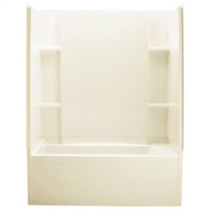 """Accord® Series 7115, 60"""" x 32"""" x 74"""" Bath/Shower with Age-In-Place Backers-Left-hand Drain - KOHLER Almond Product Image"""