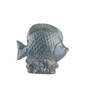 """Ceramic Fish DECOR,11.5"""",NAVY"""