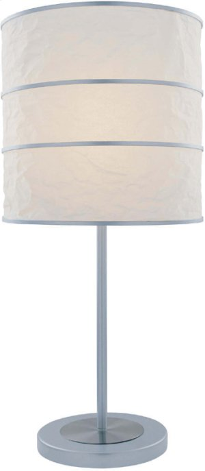 Table Lamp, Ps/silver W/white Paper Shade, Type A 60w