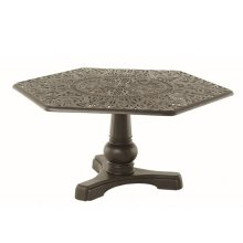 Hexagonal Inlaid Lazy Susan Table
