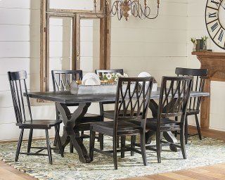 Sawbuck Dining Table Setting