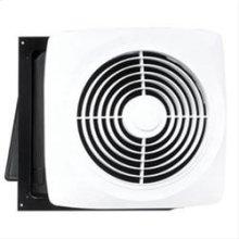 "Motordor® 360 CFM 10"" Through Wall Fan, White Plastic Grille"