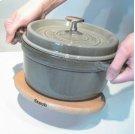 "Staub Cast Iron 6"" Magnetic Wood Trivet Product Image"