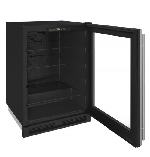 "1000 Series 24"" Glass Door Refrigerator With Stainless Frame Finish and Field Reversible Door Swing (115 Volts / 60 Hz)"